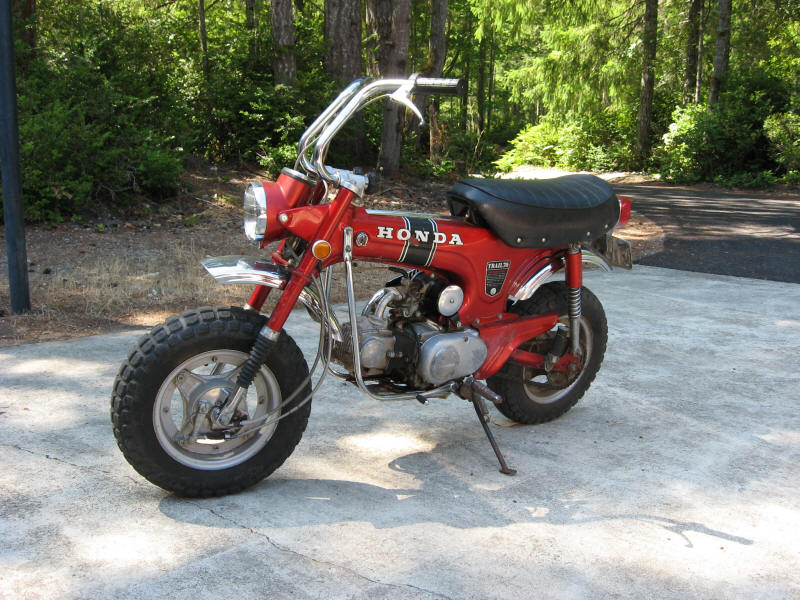 Captivating So For The Princely Sum Of $325 (in 1985) I Finally Had My Shiny Red 1970 Honda  Trail 70, Just Like Marku0027s Old Bike.